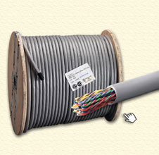 Cáp mạng AMP, Cat 5 UTP 25-pair Cable, CMR, Solid (1000ft/reel)