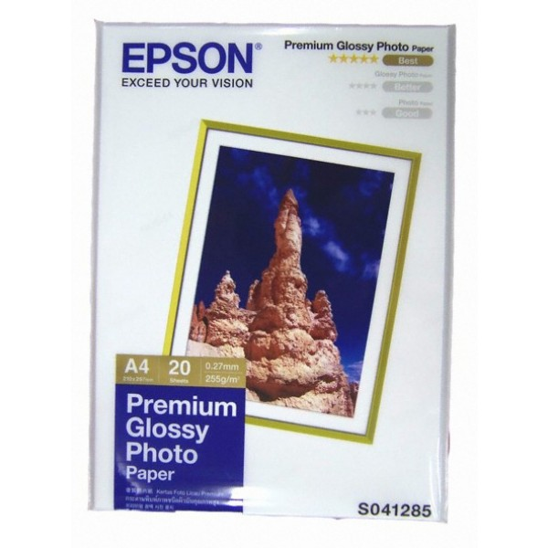 Giấy in Epson Premium Glossy Photo Paper A4  20 Sheets