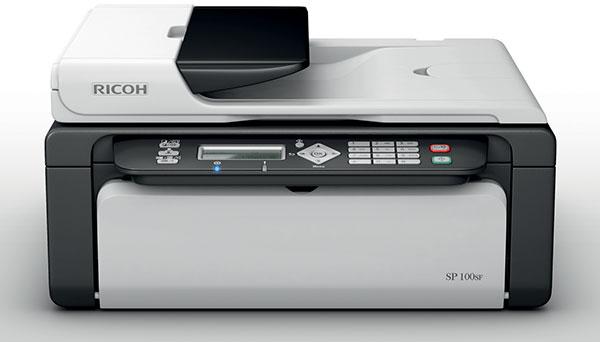Máy in Ricoh SP 100SF, In, Scan, Copy, Fax, Laser trắng đen