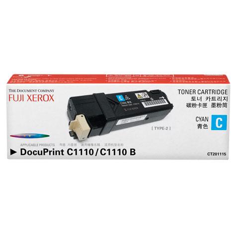 Mực in Fuji Xerox C1110, C1110b, Cyan Toner Cartridge (CT201115)