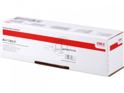 Mực in Oki B411, Black Toner Cartridge