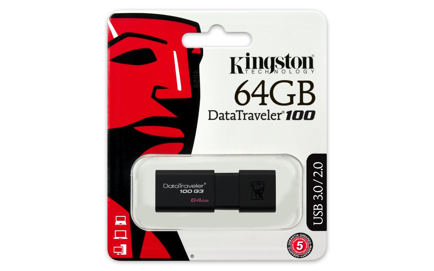 USB 64GB Kington DataTraveler 100 G3 (DT100G3/64GB)