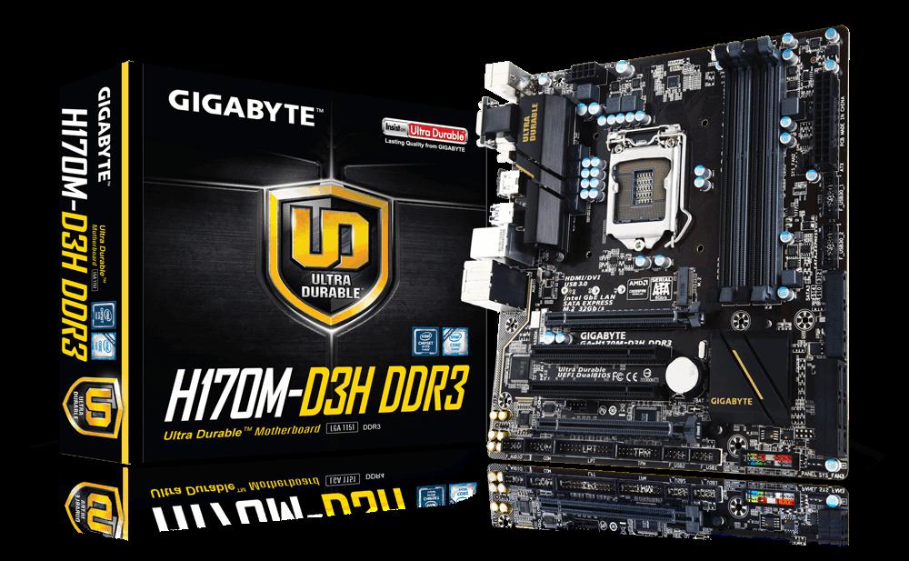 Main Gigabyte GA-H170M-D3H-DDR3, Socket 1151 (GA-H170M-D3H-DDR3)
