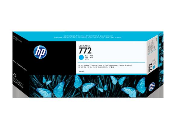 Mực in HP 772 300-ml Cyan DesignJet Ink Cartridge (CN636A)